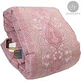 昭和西川 品质可靠 保暖蓬松羽绒被 日本制造 单人床 小双人床 双人床 粉色 シングル Amazon企画WDD85
