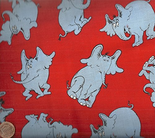 Horton Hears a Who Kaufman red fabric