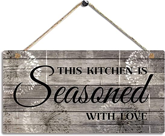 farmhouse rustic kitchen wood sign