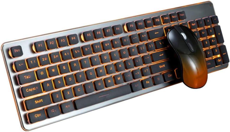 YYZLG 350 - Teclado y ratón inalámbricos para juegos (2,4 g ...