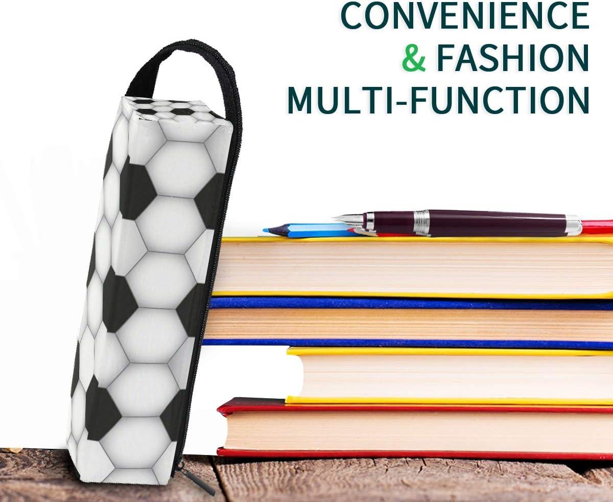 EZIOLY - Estuche de maquillaje hexagonal para lápices de fútbol, duradero, organizador de papelería con cremallera para adultos, adolescentes, niñas y niños: Amazon.es: Oficina y papelería