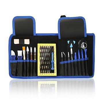 63en1 Destornilladores Precision Completa Juego de Destornilladores Profesional Herramientas para Ordenador,Gafas, PC, Teléfono, Smart Phone, Reloj, ...