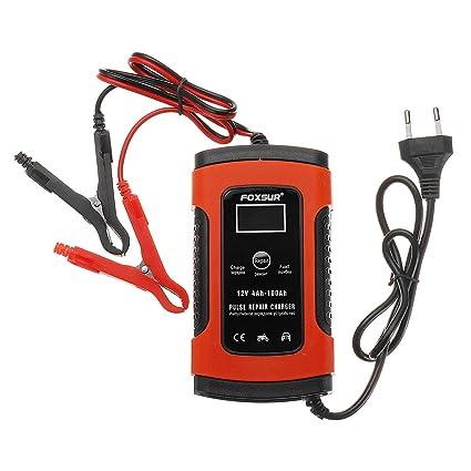 WCHAOEN 12V 5A Reparación de Pulso LCD Batería Cargador Rojo ...