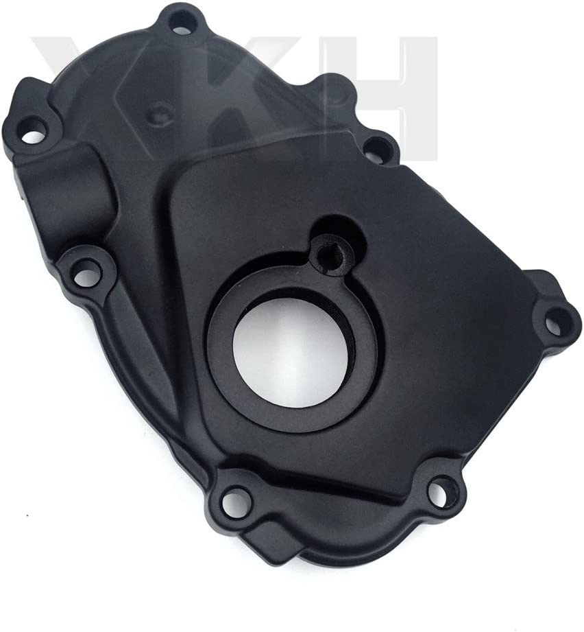 Motorcycle Black Right Side Engine Crankcase Cover Ignition Trigger Compatible with 2003-2005 Yamaha YZF-R6//2006-2009 Yamaha YZF-R6S//1989-1997 Yamaha FZR600//1989-1990 Yamaha FZR500 B01KNX9SP6 XKH