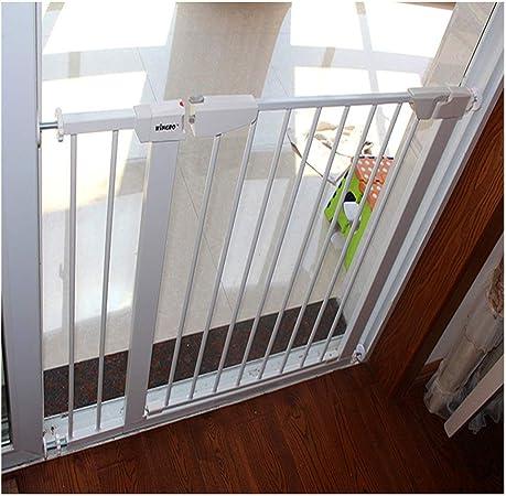 ZEMIN Película Anti-rotura Caminar Conveniencia Barrera De Seguridad Escalera Puerta for Niños Perros Proteccion, H 75CM (Color : White, Size : Width 90-97cm): Amazon.es: Hogar