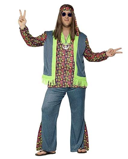 Horror-Shop Hippie Sr. Traje con Chaleco más el tamaño XXL ...