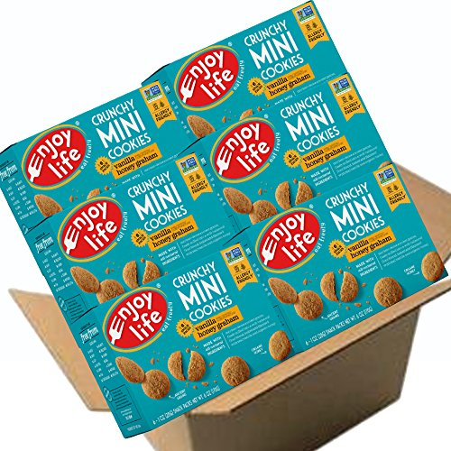 (Enjoy Life Crunchy Mini Cookies, Soy free, Nut free, Gluten free, Dairy free, Non GMO, Vanilla Honey Graham, 1 Ounce Packs (Pack of 36))