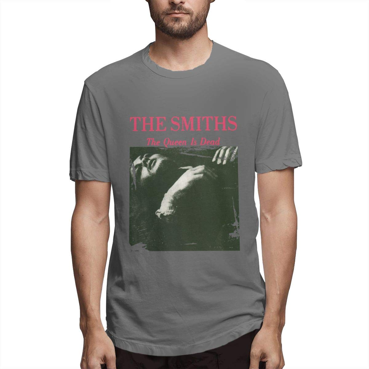 Seuriamin The Smiths Queen is Dead Mens Comfortable Hiking Short Sleeve T-Shirts