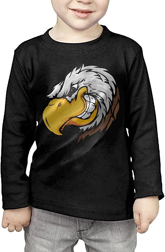 U/&MFashions Bald Eagle Falcon Kids Cotton T-Shirts Athletic Long-Sleeves Clothes