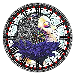 Designart 'Urban Girl Mandala' Large Modern Wall Clock