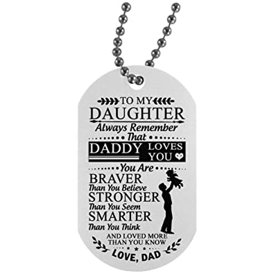 Amazon com: Inspirational to My Daughter Dog Tag Chain