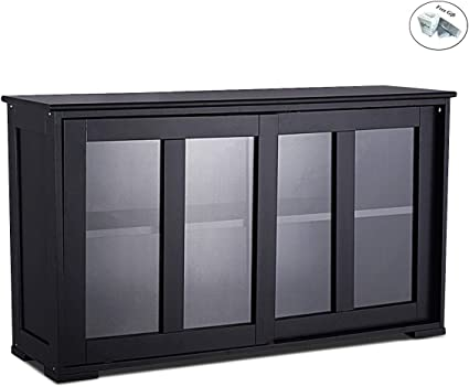 Armario de almacenamiento aparador buffet armario de cristal puerta corredera despensa cocina sólo por 8 24 horas + regalo especial: Amazon.es: Oficina y papelería