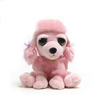 Russ - Peluche caniche sentado rosa 15cm