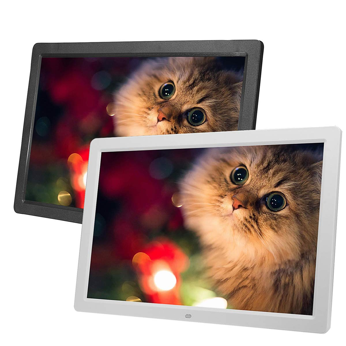 Prament 17インチHD LEDデジタル写真の写真のフレームクロックリモコン付き音楽ムービープレーヤー COD ブラック  ブラック B07MHZCZF5