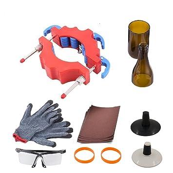 Botella de cristal Cortador, anzome ajustable rodillos ruedas de corte precisa herramienta de corte de