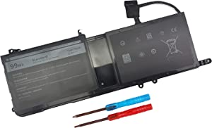 99WH Type 9NJM1 Battery Compatible with Dell Alienware 15 R3 R4 17 R4 R5 P31E001 P31E002 P69F001 P69F002 ALW17C-D1738 D1748 D1758 D1848 D2738 D2748 D2758 R1748 Notebook 0546FF 44T2R HF250 MG2YH 01D82