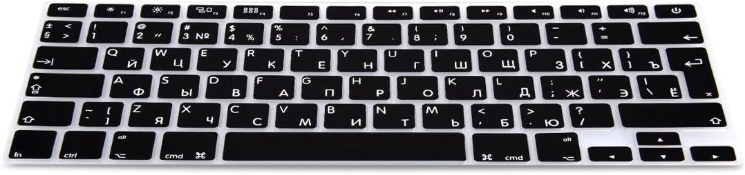 kwmobile Protector de Silicona para Teclado QWERTY (Ruso) - Compatible con Apple MacBook Air 13/ Pro Retina 13/ 15 (de Mediados del 2016) en ...