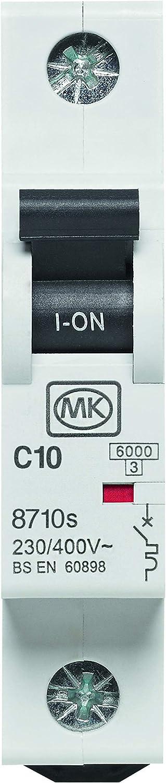 MK Electric Sentry 10A Single Pole Type C MCB