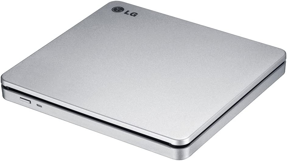 LG Electronics 8X USB 2.0 Super Multi Ultra Slim Slot Portable DVD+/-RW External Drive with M-DISC Support, Retail (Silver) GP70NS50
