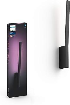 Philips Hue Lámpara de Pared Liane Inteligente LED Negro, Luz Blanca y Color, Compatible con Blu...