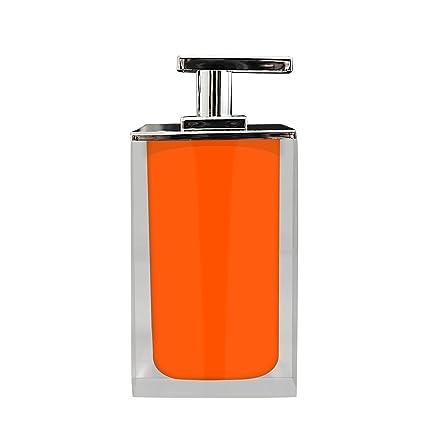 Grund z22280514 Cube – Dispensador de jabón 7 x 7 x 14 cm Naranja Accesorios,
