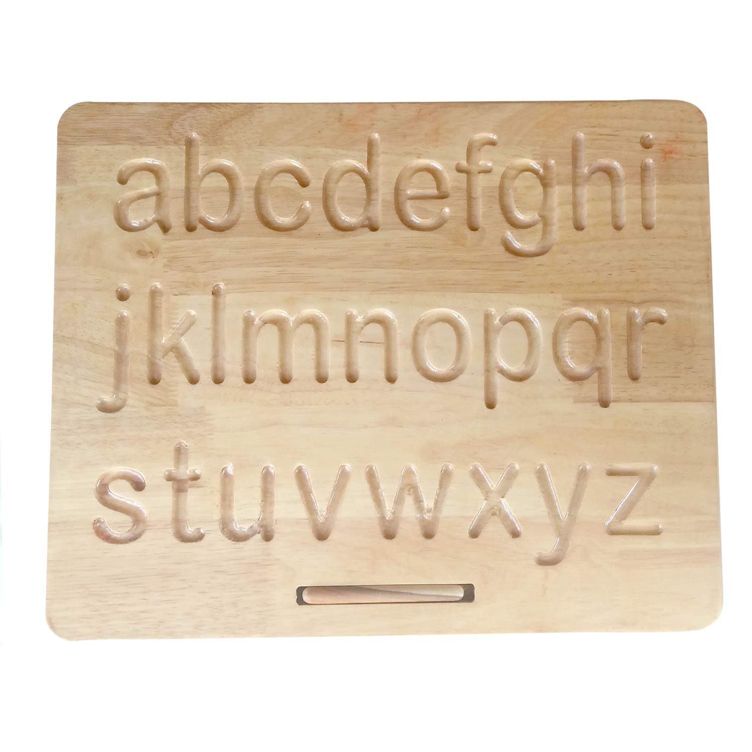 Printed Alphabet Wood Tracing Board Lowercase and/or Uppercase - Wooden Gifts - Baby Gifts - Grandparents Gifts - Class Room Gifts - Personalized Gifts