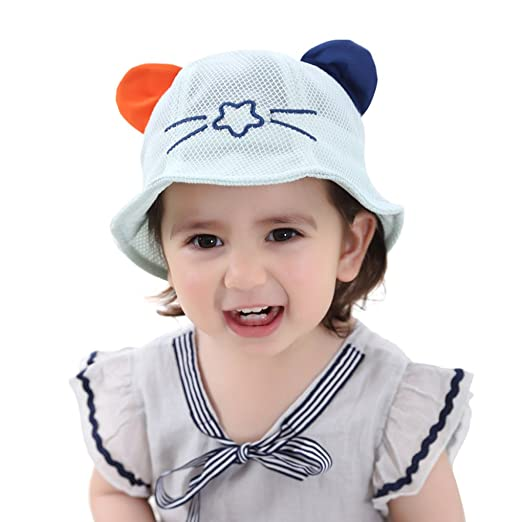 Amazon.com  Cute Cat Ear Sun Hats for Baby Girls Boys cc9a8c724682