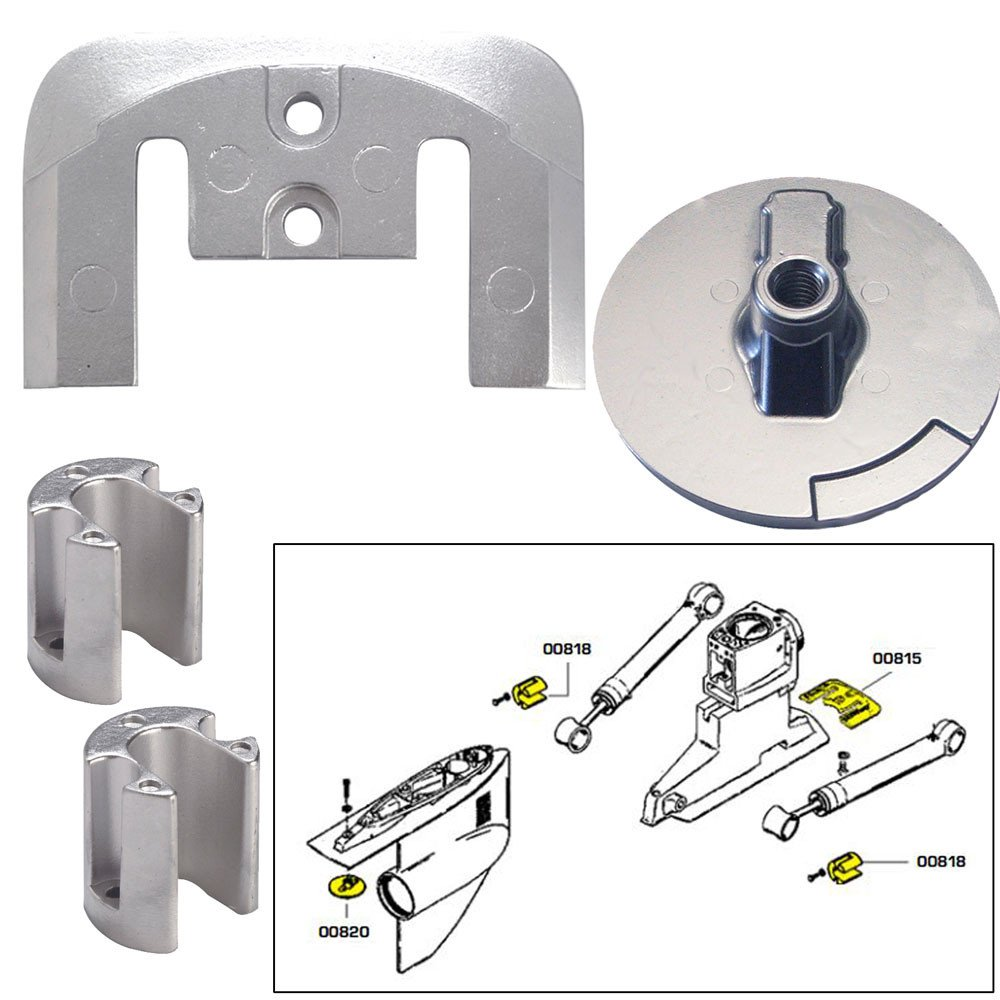 Tecnoseal Anode Kit w/Hardware - Mercury Bravo 2-3 - Aluminum
