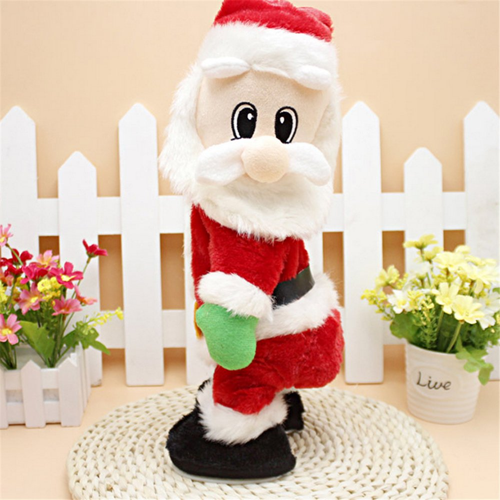 Christmas Electric Santa Claus Singing Gift Santa Claus Funny Electric Toy Xmas Decorations for Kids SdeNow