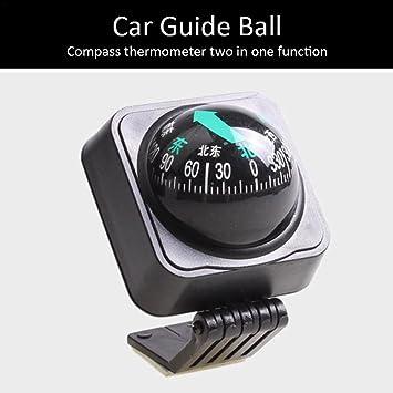 Neue 2 in 1 Auto Fahrzeug-LKW-Boot Navigation Kompass-Kugel /& Thermometer