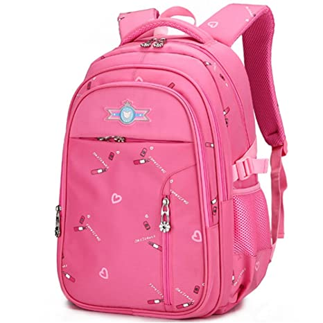 Uniuooi Pink School Bag Backpack for Primary Girls 7-12 Years Old ... 8db745de35e99