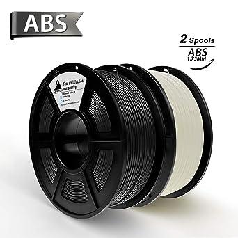 Esun 1.75mm Black Abs 3d Printer Filament 1kg Spool Black 2.2lbs