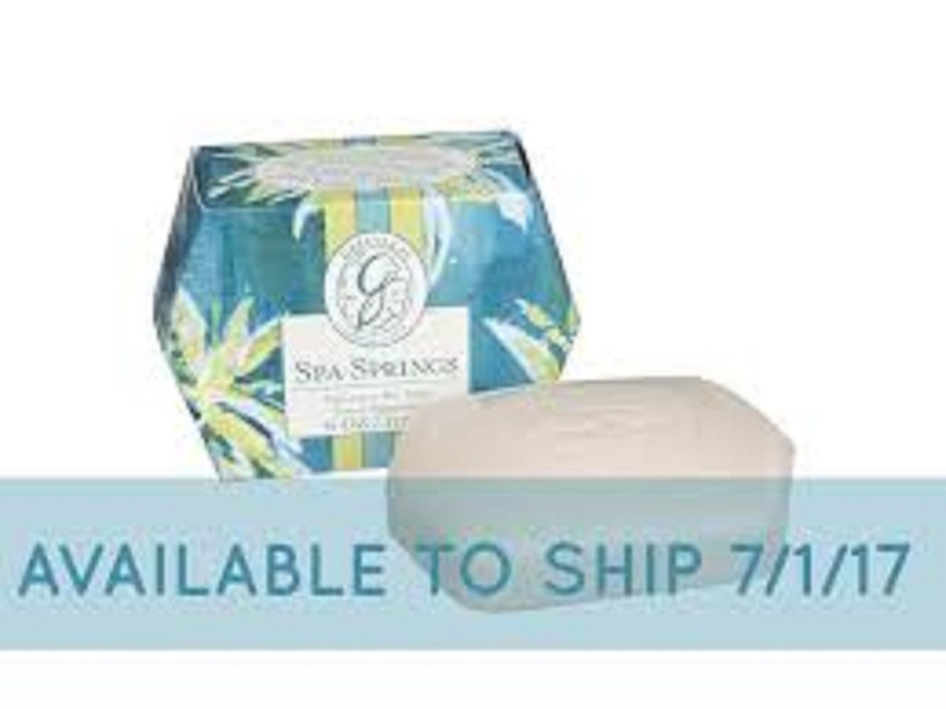 Greenleaf Spa Springs Signature Bar Soap