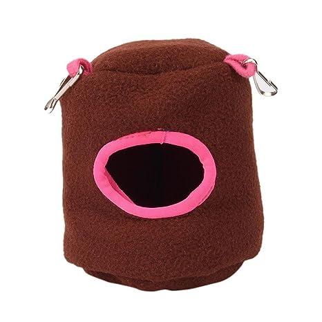 Refugio para hámster de Aolvo, caseta colgante para mascotas, amorosa, con orificio de