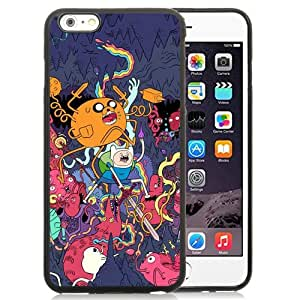 Fashionabe iPhone 6 Plus 5.5 Inch TPU Case ,Popular And Unique Designed Case With Adventure Time Black iPhone 6 Plus Cover Phone Case