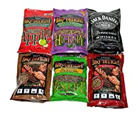BBQrs Delight Wood Smoking Pellets - Super Smoker Variety Value Pack - 1 Lb. Bag - Apple, Hickory, Mesquite, Cherry, Pecan and Jack Daniel's from fabulous BBQ Delight
