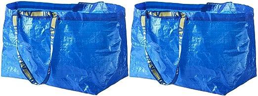 IKEA FRAKTA Carrier Bag, Blue, Large Size Shopping Bag 2 Pcs Set: Buy Online at Best Price in UAE - Amazon.ae