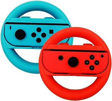 Volante niceEshop para Nintendo Switch Blue and Red: Amazon.es ...