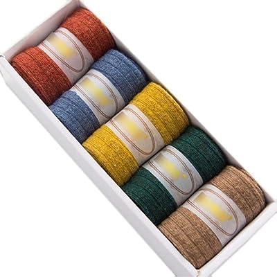 5 paires Chaussettes de plancher adultes Chaussettes de sommeil chaussettes d'hiver #4