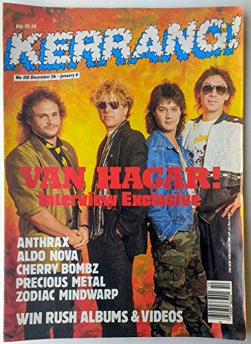 oddtoes concert posters and music memorabilia Kerrang Magazine - Issue 110: Dec. 1986 Van Halen, Anthrax, Queen + More