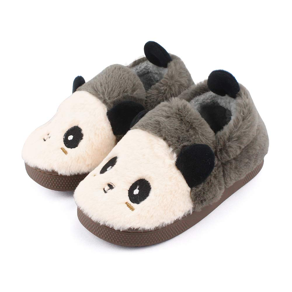 757bdcfd13087 Childrens Girls Boys 3D Novelty Animal Character Plush Slippers Kids  Booties Panda Shoes Size UK 7-13 Child [1541604272-251647] - £5.77