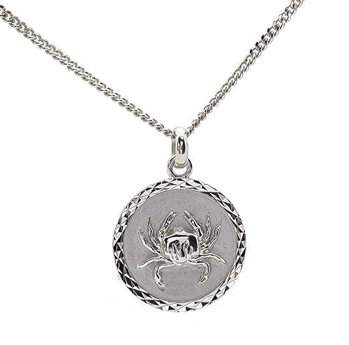 Colgante de plata maciza con medalla y cadena del signo del ...