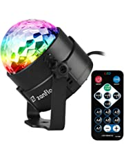 Stage Disco Ball Light, Zanflare Sound Activated Party Lights with Remote Control, 7 Lighting Colors Stage Par Light for Easter Xmas Home Room Dance Party Birthday Karaoke Wedding Show Club