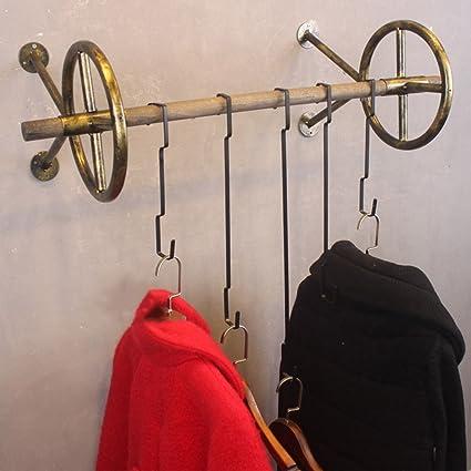 QiangDa Montado En La Pared Perchero De Hierro Forma De Rueda Casa Tienda De Ropa Estilo Industrial Vintage, 3 Colores, 4 Tamaños (Color : 1#, Tamaño ...