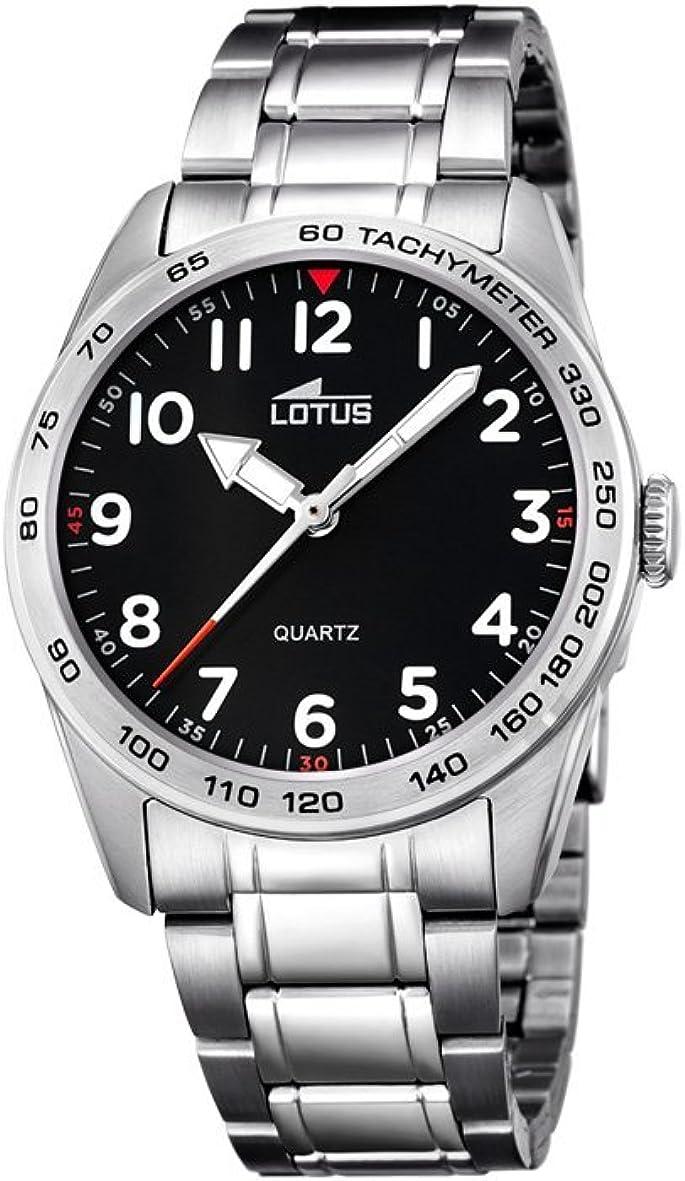 Lotus 18275/3 Reloj de Pulsera de Cuarzo analógico Unisex, Acero Inoxidable