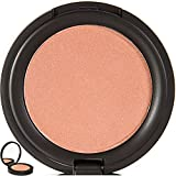 Blush Pressed Blusher Face Powder Makeup with Mirror Case - All Natural, 75% Organic, Gluten Free, Vegan - No Toxic Chemicals, Non Irritating