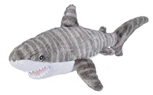 Wild Republic Tiger Shark Plush, Stuffed Animal, Plush Toy, Gifts for Kids, Cuddlekins 13 Inches