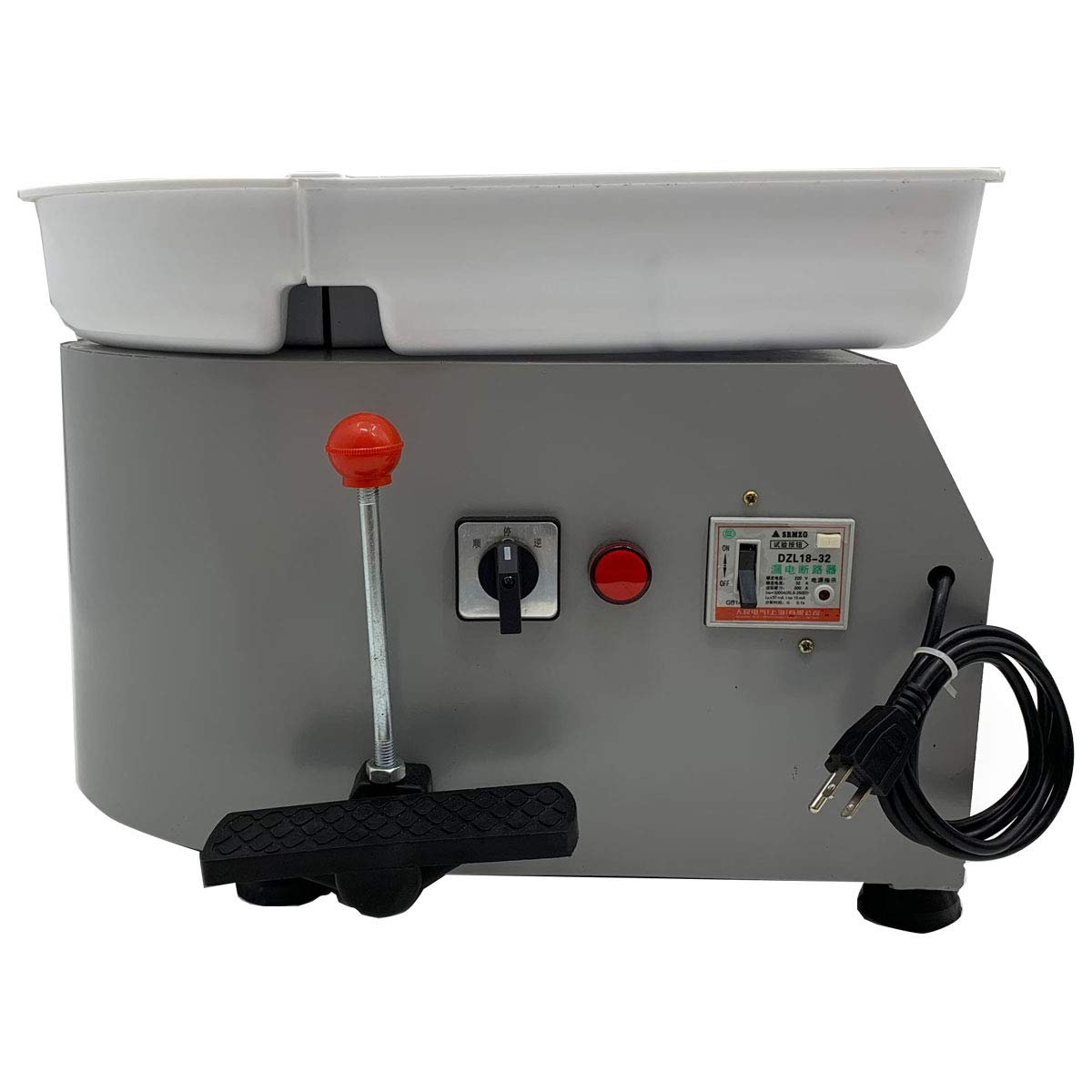 HOTSTORE Pottery Wheel 25CM Pottery Forming Machine Electric Pottery Wheel with Foot Pedal and Tray Easy Cleaning for Ceramics Clay Art Craft DIY Clay 350W 110V