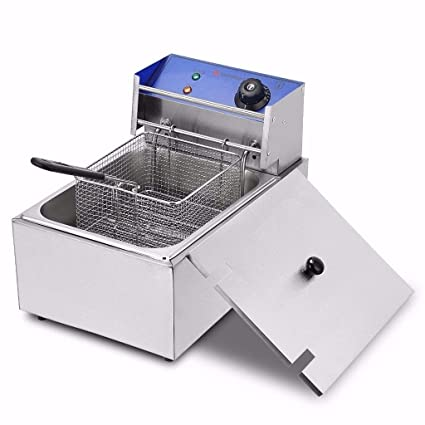 THE URBAN KITCHEN Electric Deep Fryer, 12L Stainless Steel Commercial Electric Deep Fat Fryer Temperature Control Timing Fryer &…