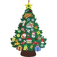 Conjunto De Árvore De Natal De Feltro, Árvore De Natal DIY De 3,3 Pés Com 33 Enfeites Removíveis, Decoração Infantil…